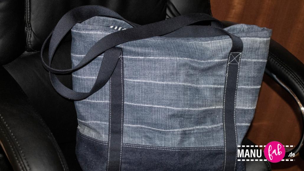 Upcycling - Tasche / Shopper aus alten Jeanshosen